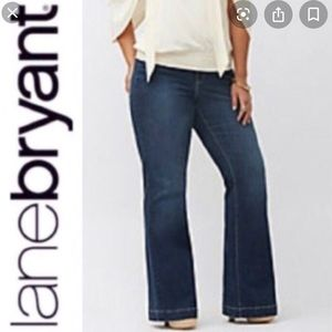 LANE BRYANT Lightly Flared Stretchy Jeans